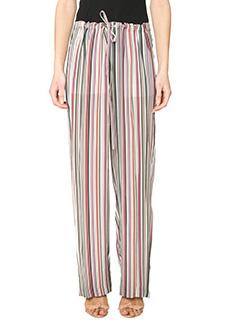 Theory-Pantaloni Winszlee in seta multicolor