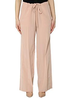 Theory-Pantaloni Winszlee in seta rosa