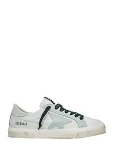 Golden Goose Deluxe Brand-Sneakers May in pelle bianca