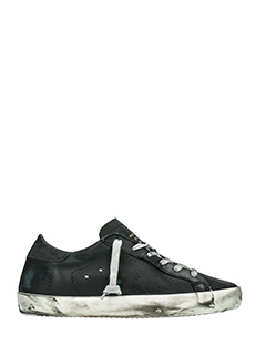 Golden Goose Deluxe Brand-Sneakers Superstar in pelle nera