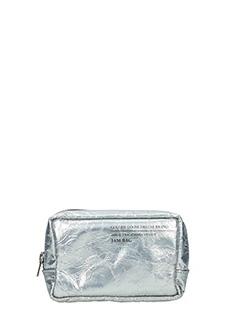 Golden Goose Deluxe Brand-Pochette Jam in pelle argento