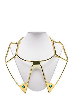 Golden Goose Deluxe Brand-Collana rigida in ottone dorato