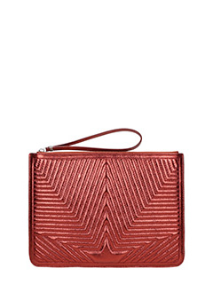 Golden Goose Deluxe Brand-Pochette Juliette  in pelle metal rossa