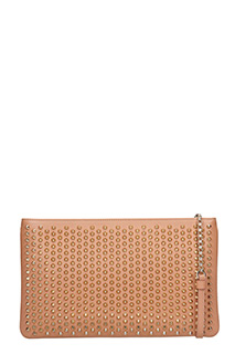 Christian Louboutin-Loubiposh nv cl rose-pink leather clutch
