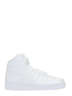 Nike-Sneakers Air Force 1 High in pelle bianca