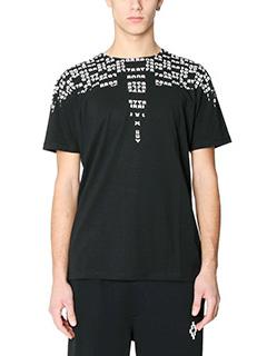 Marcelo Burlon-T-Shirt Rey in cotone  nero bianco