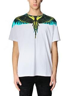 Marcelo Burlon-T-Shirt Valentin in cotone bianco