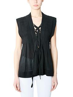 Isabel Marant Etoile-Kenny black viscose topwear