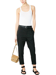 Isabel Marant Etoile NYDIA BLACK COTTON PANTS 2