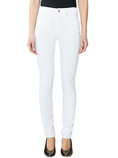Isabel Marant Etoile-Jeans Elkay in cotone elastico bianco