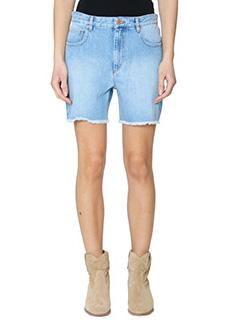 Isabel Marant Etoile-Shorts Cedar in denim azzurro