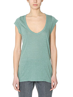 Isabel Marant Etoile-Top Tank Kentow  in cotone verde