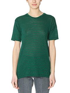 Isabel Marant Etoile-Andreia green cotton t-shirt