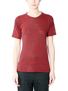 Isabel Marant Etoile-Andreia red cotton t-shirt