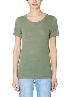 Isabel Marant Etoile-Vassili green cotton t-shirt