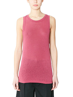 Isabel Marant Etoile-Top Vegas in jersey rosa