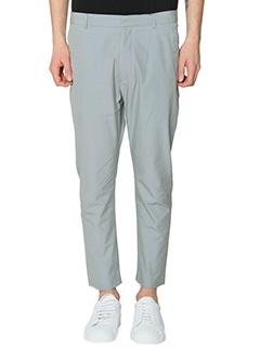 Jil Sander-Pantaloni in cotone ghiaccio-tasche