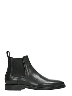 Lanvin-black leather ankle boots