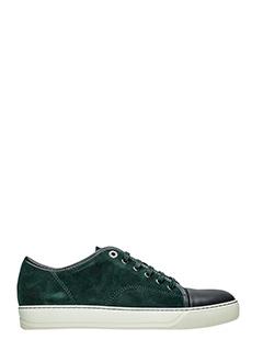 Lanvin-Sneakers in pelle e camoscio dark grey