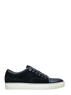 Lanvin-Sneakers in pelle e camoscio navy