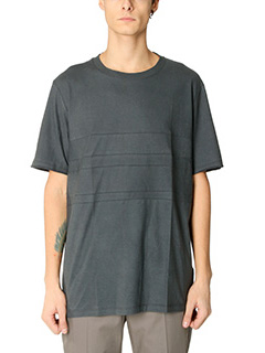 Lanvin-T-Shirt Washed in cotone nera