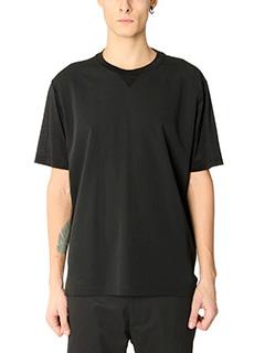 Lanvin-T-Shirt in cr�pe nera
