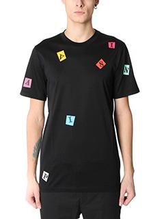 Lanvin-T-Shirt in cotone nero