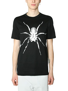 Lanvin-T-Shirt Spider in cotone nero bianco
