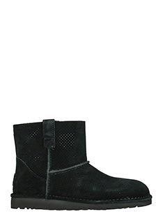 Ugg-Stivali Classic Unlined in suede nero