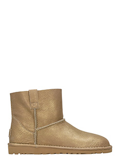 Ugg-Stivali Classic Unlined in pelle metal gold