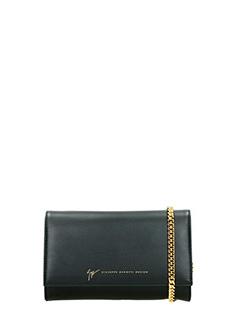 Giuseppe Zanotti-black leather clutch