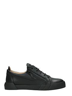 Giuseppe Zanotti-Sneakers Low in pelle nera