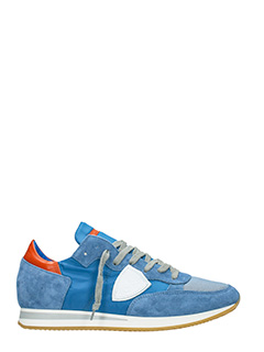 Philippe Model-Sneakers Tropez in camoscio celeste