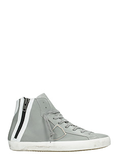Philippe Model-Sneakers Bike in pelle grigia