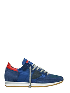 Philippe Model-Sneakers Tropez in camoscio blue