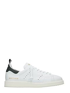 Golden Goose Deluxe Brand-Sneakers Starter in pelle bianca nera