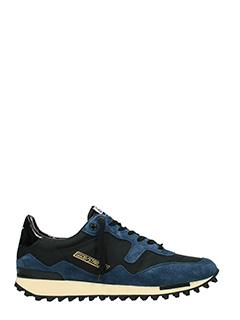 Golden Goose Deluxe Brand-Sneakers Starland in tessuto e camoscio nero blue