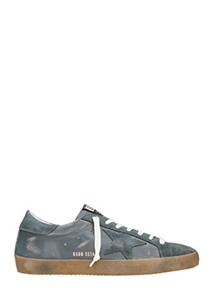 Golden Goose Deluxe Brand-Sneakers Superstar in pelle grigia