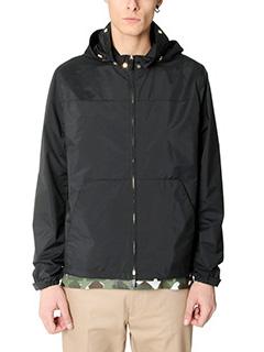 Valentino-black nylon outerwear