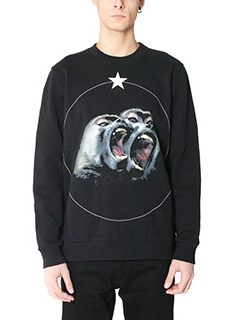 Givenchy-Felpa Monkeys in cotone nero