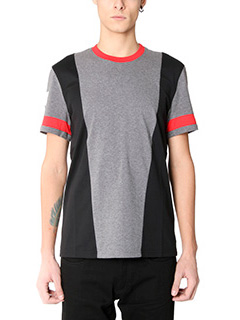 Givenchy-T-Shirt Regular  in cotone nero grigio rosso