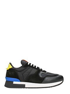 Givenchy-Sneakers Runner Active in pelle e tessuto nero