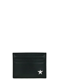 Givenchy-Portacarte Double  in pelle nera