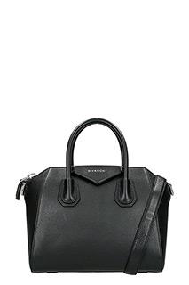 Givenchy-Borsa Antigona Small in pelle martellata nera