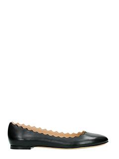 Chlo�-Lauren black leather ballet flats