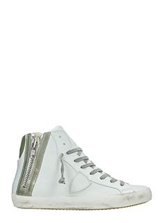 Philippe Model-Sneakers Bike in pelle bianca