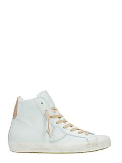Philippe Model-Sneakers Classic High in pelle bianca beige