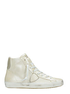 Philippe Model-Sneakers Classic High In pelle argento