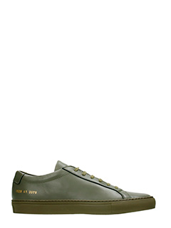 Common Projects-Sneakers Original Achilles Low in pelle army green