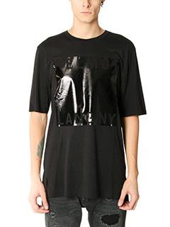 Helmut Lang-T-Shirt Film Logo in cotone nero
